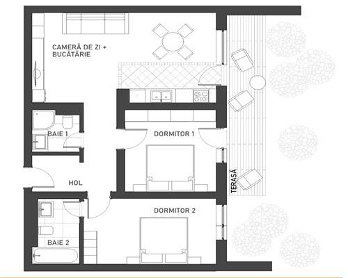 Apartament cu 3 camere in zona Braytim