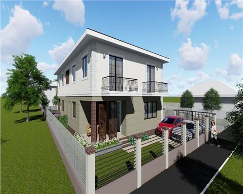 Casa tip Duplex in Giroc la asfalt cu toate utilitatile. 134 mp utili.