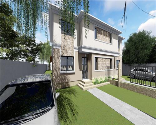 1/2 Duplex in Giroc cu toate utilitatile, incalzire in pardoseala, 110 mp utili. La asfalt.